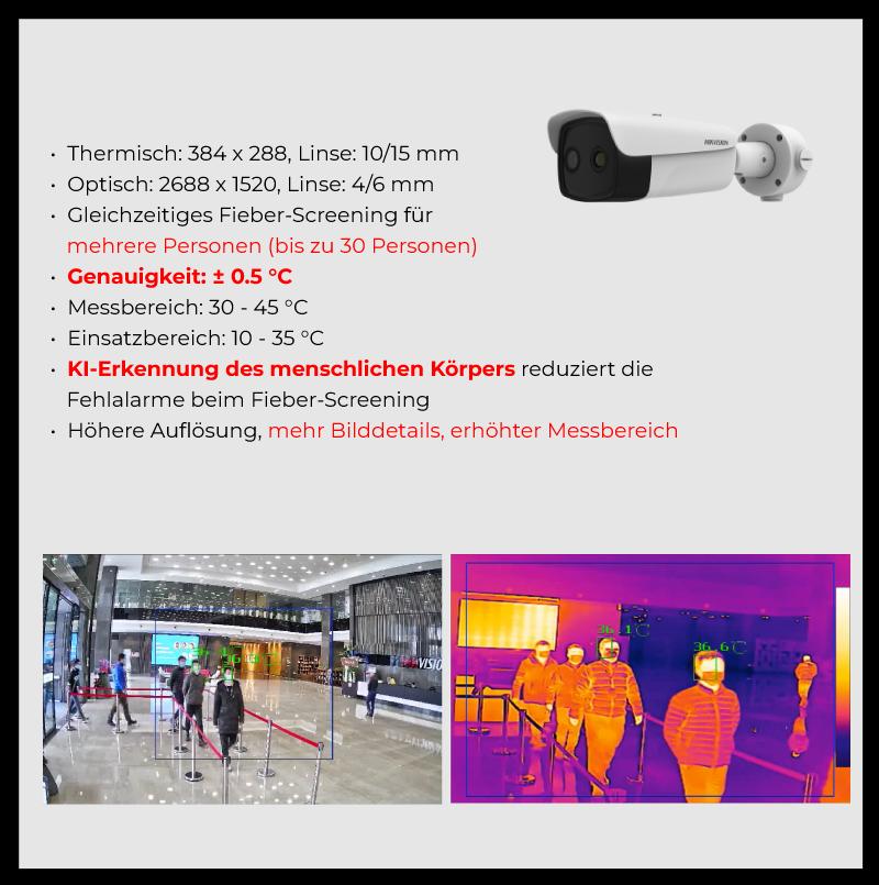 Produktdetails: Fieber Screening für grosse öffentliche Bereiche