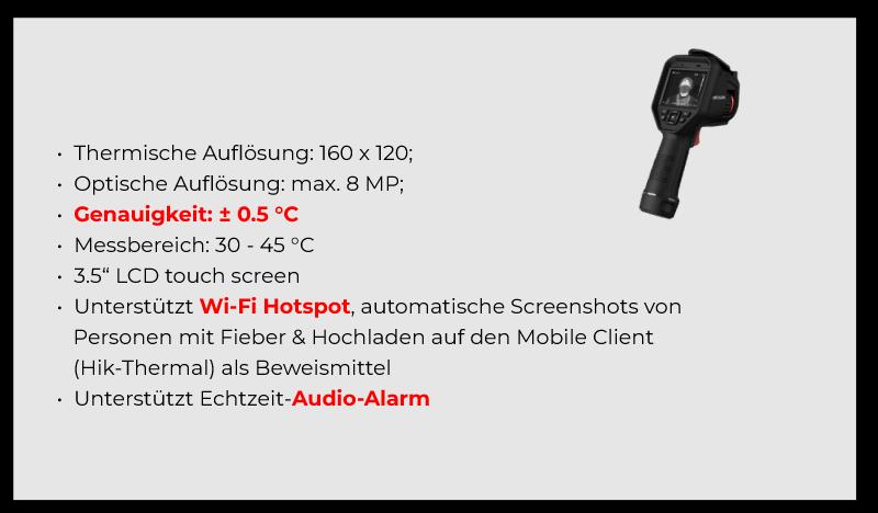 Produktdetails: Tragbare Fieber-Screening Handkamera