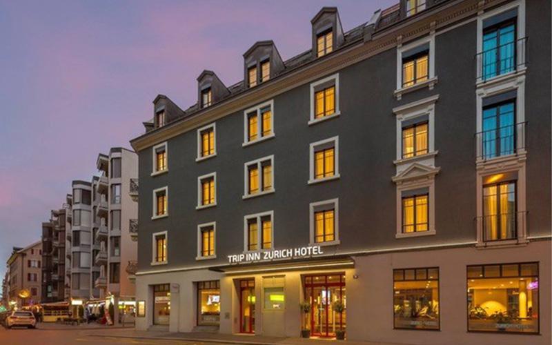 KNX-Steuerung Hotel Trip Inn, Zürich - Foto Aussenansicht