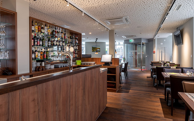 KNX-Steuerung Hotel Trip Inn, Zürich - Foto Bar, Frühstücksraum