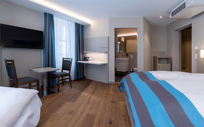 KNX-Steuerung Hotel Trip Inn, Zürich - Foto Zimmer