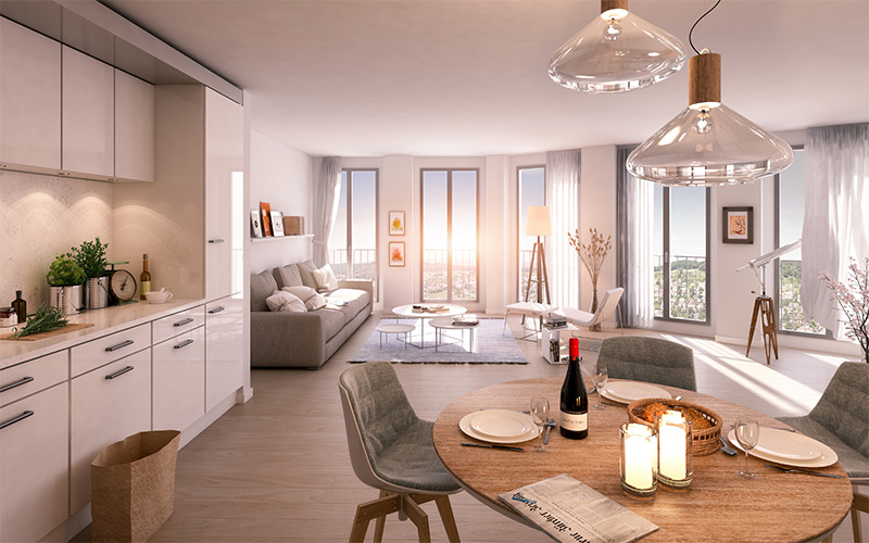 Weidenhof: Smart Home mit digitalSTROM - Musterfoto Innenbereich
