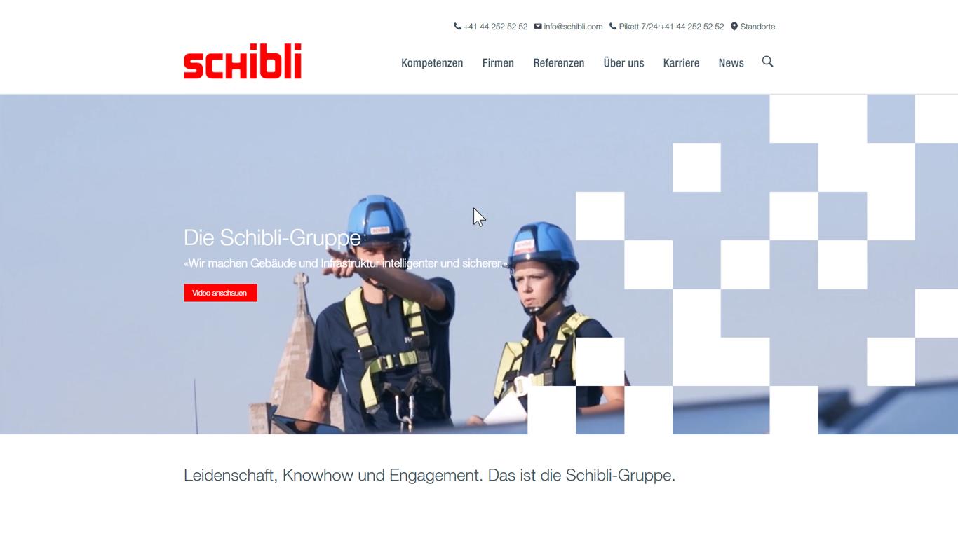 Neue Webseite der Schibli-Gruppe